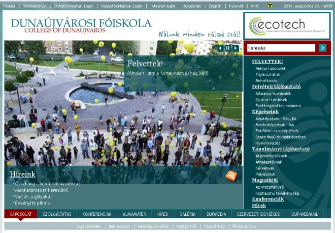 Webra 3 0   Fall semester, new portal at the College of